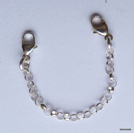 Extension chain Sterling Silver with 2 lobster clasps. 2,25mm rollo chain